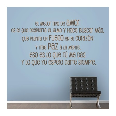 Frases para pared frases para pared vinilos decorativos for Pegatinas frases pared