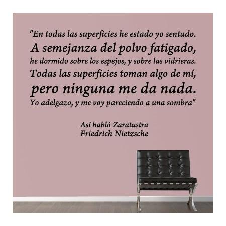 Vinilos Decorativos De Texto Personalizado Con Fragmento De Liro Así Habló Zaratustra De Nietzsche