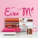 Vinilos Nombre Elsa Mª