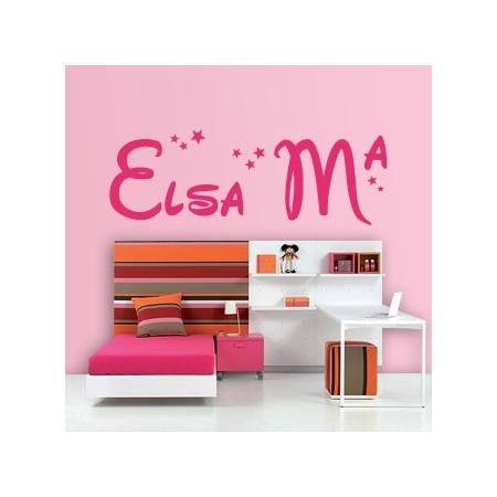 Vinilos decorativos Nombre Elsa Mª