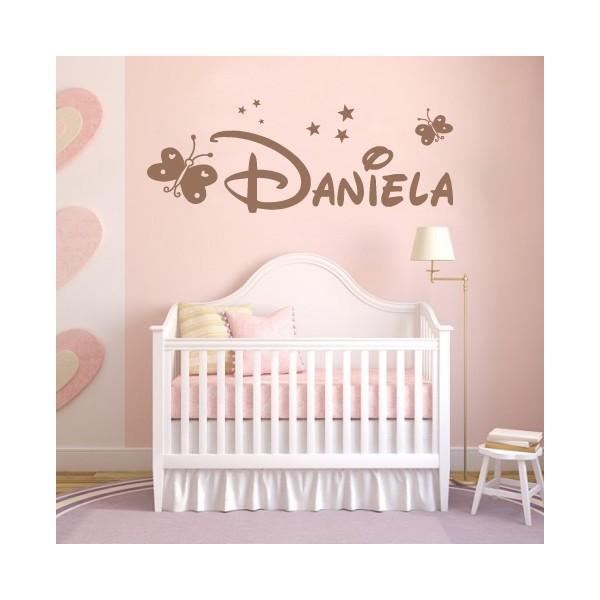 Vinilos decorativos infantiles con nombre daniela y - Dibujos pared habitacion infantil ...