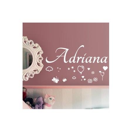 Vinilos infantiles con Nombre Adriana