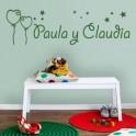 Vinilos Nombres Paula y Claudia