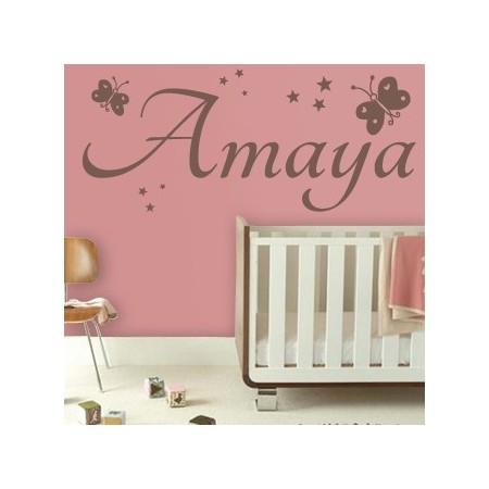 Vinilos decorativos Nombre Amaya