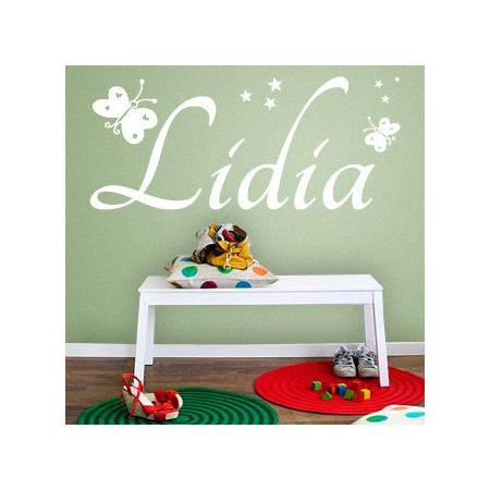 Vinilos decorativos Nombre Lidia