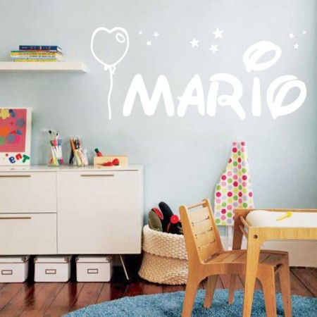 Vinilos infantiles Nombre Mario