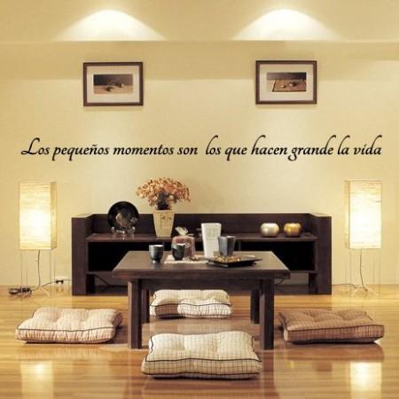vinilos decorativos Frase Momentos vida