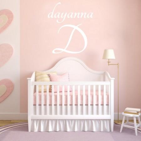 Vinilos decorativos nombre Dayanna