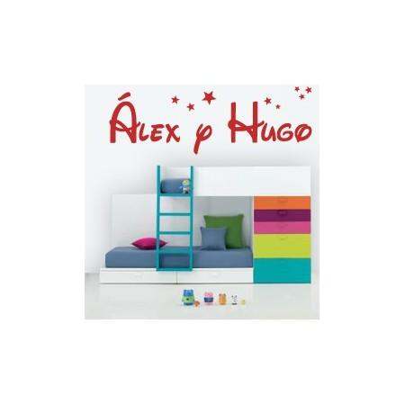 Vinilos Nombres Álex y Hugo