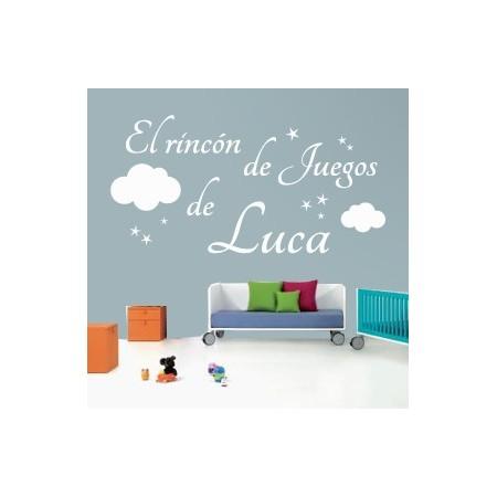 vinilos texto El Rincón de Juegos de Luca