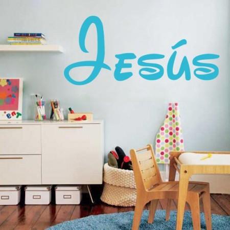 pegatinas paredes nombre Jesús