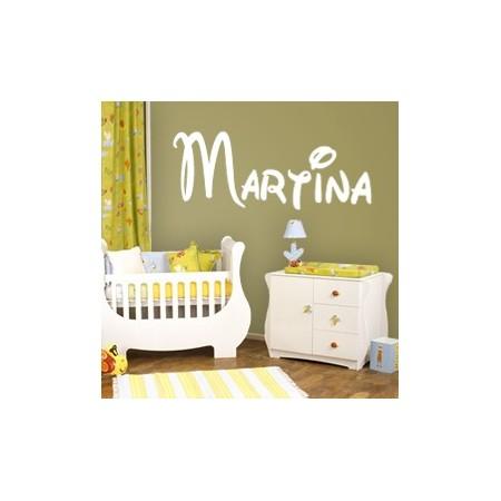 pegatinas de paredes con nombre Martina