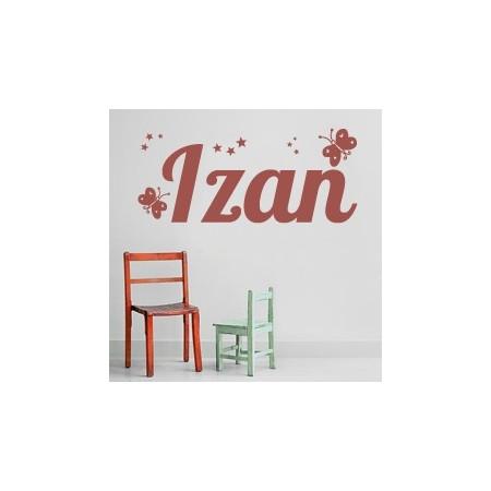 pegatinas de paredes con nombre Izan