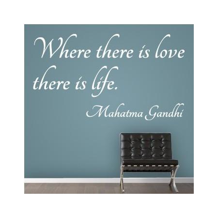 pegatinas paredes Frase Gandhi