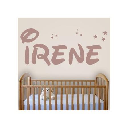 pegatinas de vinilo con nombre Irene