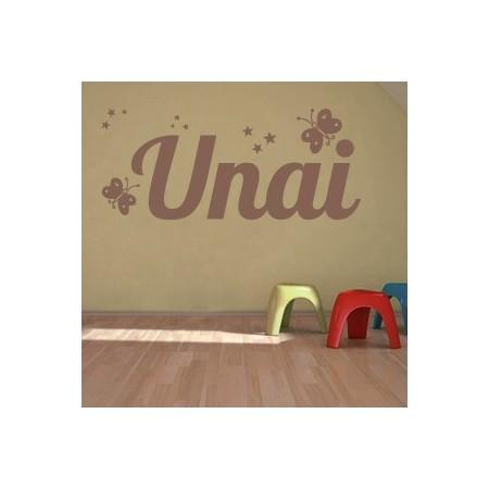 vinilos adhesivos con nombre Unai