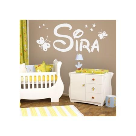 pegatinas de paredes con nombre Sira