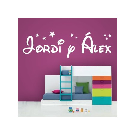 vinilos con nombres Jordi y Alex