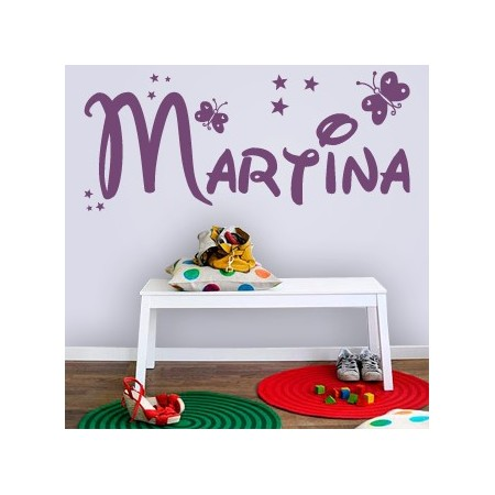 vinilos decorativos con nombre Martina