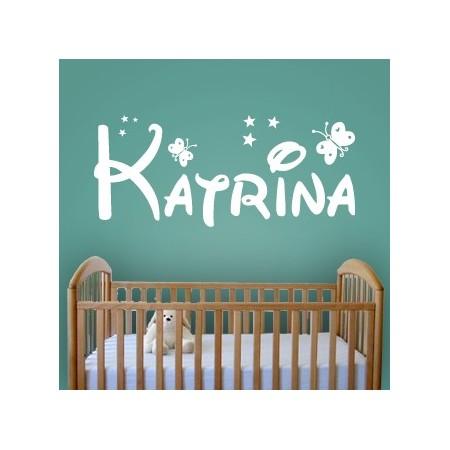 pegatinas paredes nombres Katrina