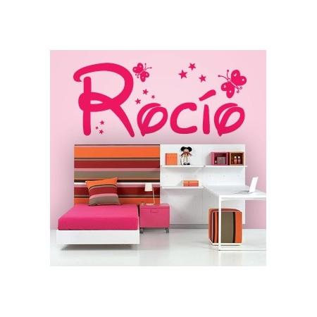 pegatinas paredes nombre Rocío