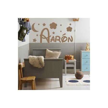 pegatinas paredes nombre Aarón