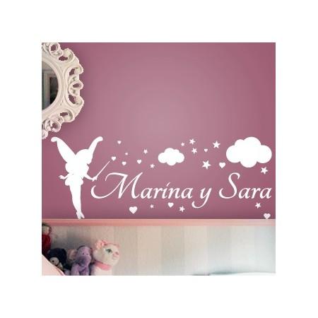 vinilos nombres Marina y Sara
