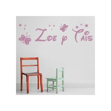vinilos nombres Zoe y Tais