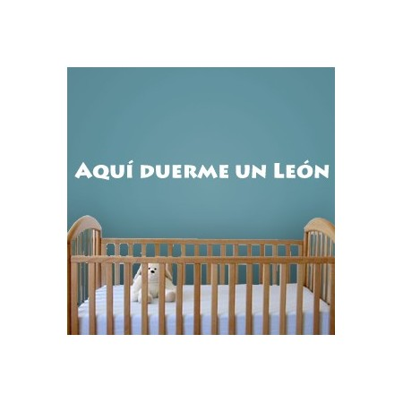 vinilos decorativos Frase León