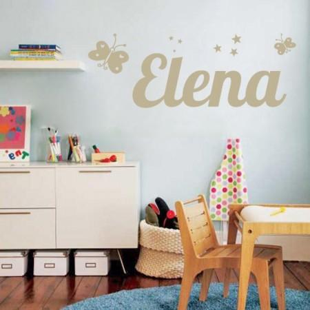 pegatinas para pared con nombre Elena