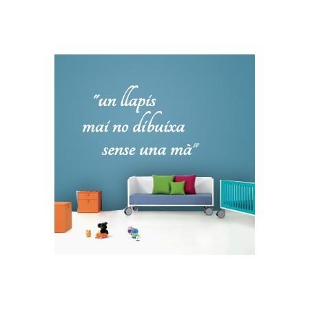 vinilos textos catalan Llapis i mà