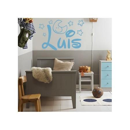 pegatinas de paredes con nombre Luis