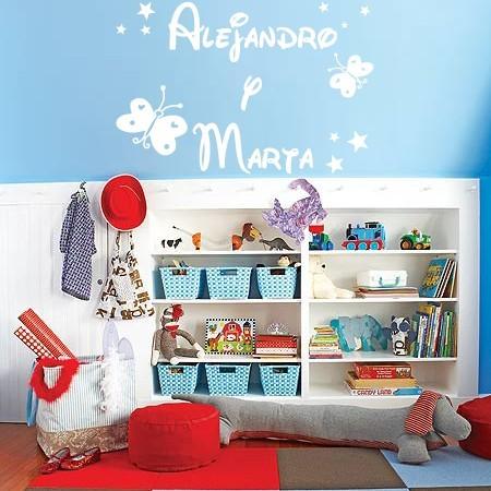 vinilos decorativos nombres Alejandro y Marta