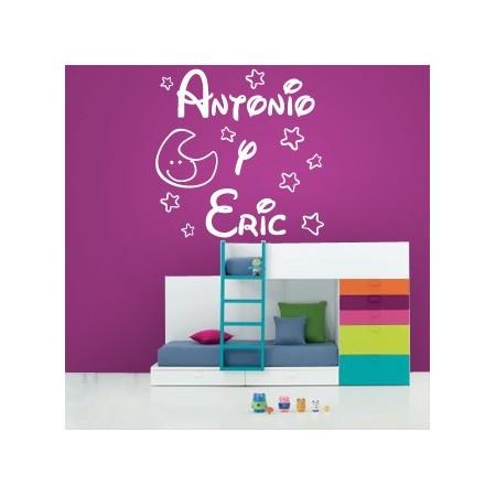vinilos de nombres Antonio y Eric