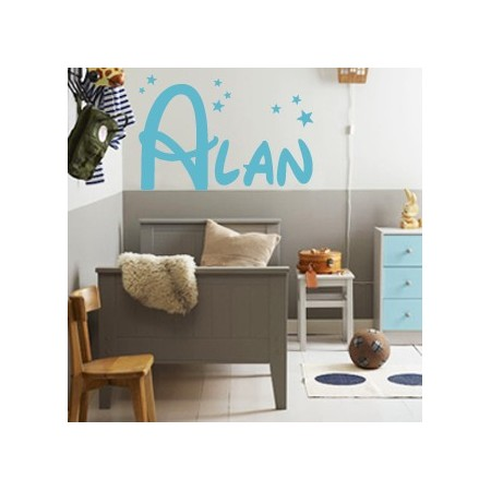 vinilos de paredes con nombre Alan