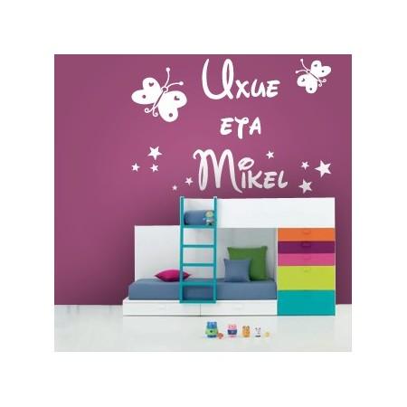 vinilos nombres Uxue eta Mikel