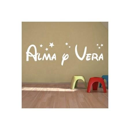 vinilos decorativos Alma y Vera