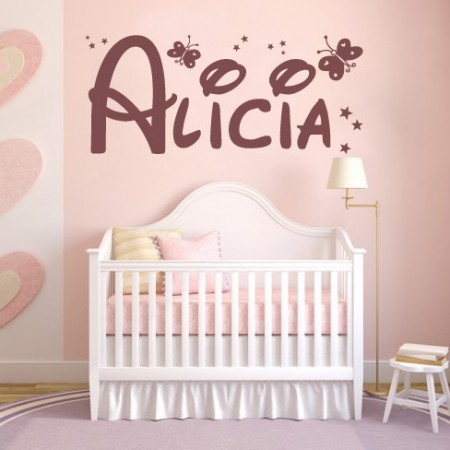 vinilos decorativos nombre Alicia