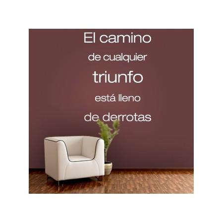 vinilos decorativos texto Triunfo