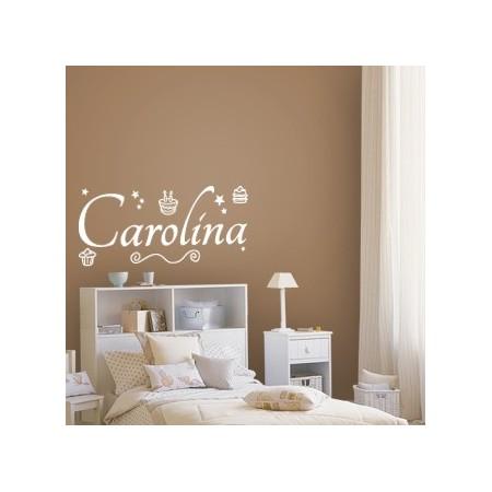 vinilos con nombre Carolina