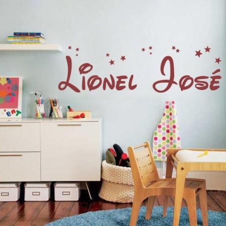 vinilos decorativos nombres Lionel José