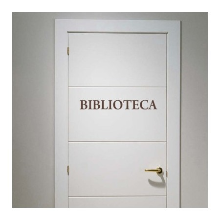vinilos puertas Biblioteca