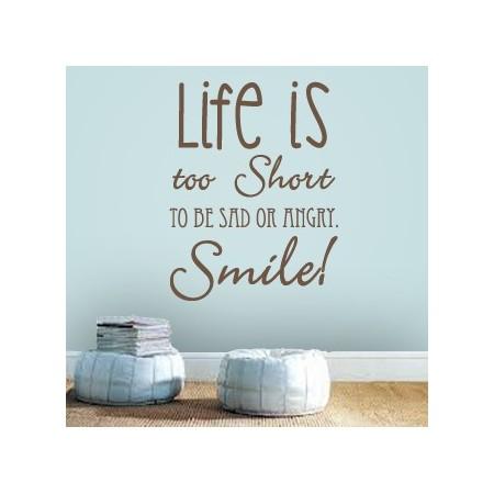 vinilos decorativos en ingles Life Is...