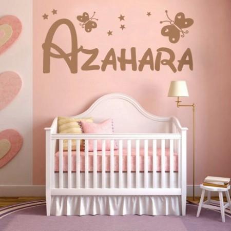 vinilos decorativos nombre Azahara