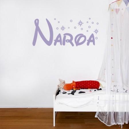 vinilos decorativos nombre Naroa