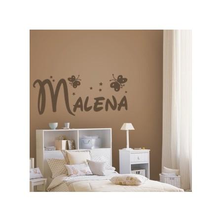 pegatina paredes nombres Malena