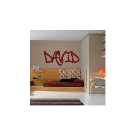adhesivos paredes nombre David