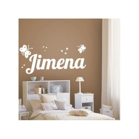 pegatinas pared nombre Jimena