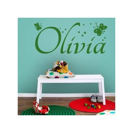 vinilos con nombres Olivia