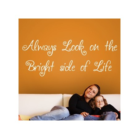 vinilos frase The Bright side of Life
